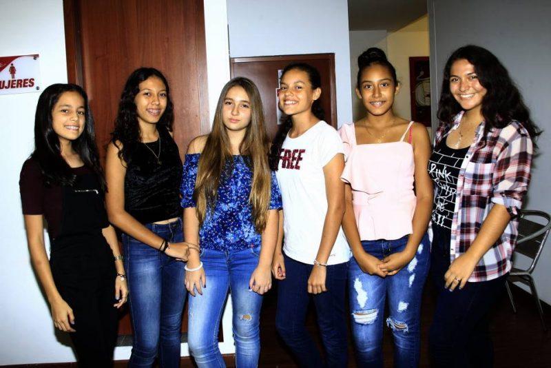 Valentina Porras, Natalia Prada, Mafe Ferrer, Isabela Fonseca, Sharik Bohórquez y Yésica Hernández. - César Flórez/GENTE DE CABECERA