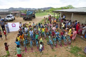 Con las actividades de Mica Sonrisas se han beneficiado cientos de niños y familias que habitan en la alta Guajira.  - Suministrada / GENTE DE CABECERA