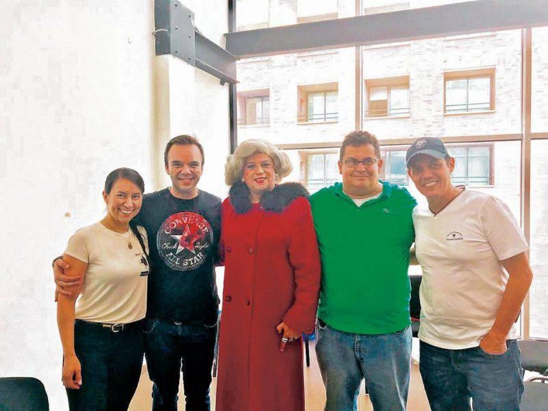 Andrea Marcela Vega, José Leonardo Pino, Barbarita, Manuel Reyes y José Francisco Murillo. - Suministrada /GENTE DE CABECERA