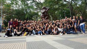 El pasado mes de enero más de 200 jóvenes se reunieron en el parque San Pío para bailar al ritmo de k-pop. - Suministrada / GENTE DE CABECERA
