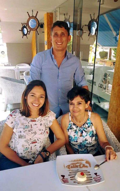 Silvia Alejandra Torres Camargo, Patricia Reyes y Fabián Villarreal Murillo. - Suministrada/GENTE DE CABECERA