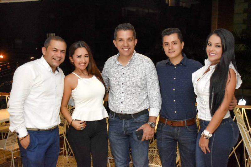 Jhon Fredy Serrano, Olga Rueda, Juan Manuel Gutiérrez, Jhon Contreras y Paola Sevilla. - Suministrada/GENTE DE CABECERA