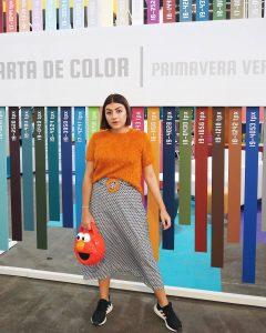 """""""Lo que más me gusta de mi carrera es que es arte, por medio del cual creamos composiciones que expresan nuestra personalidad, sentimientos y pensamientos"""", dice Mayra Gómez, bumanguesa de 23 años y estudiante de último semestre de diseño de modas. - Suministrada / GENTE DE CABECERA"""