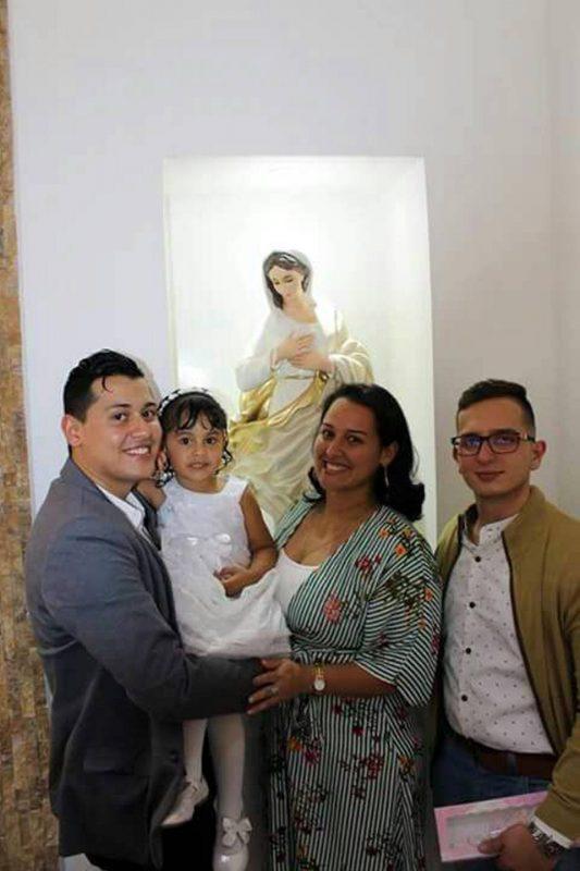 Dennis Julián Cepeda González, Ariana Yisseth Cepeda Sandoval, Silvia Constanza Cepeda González y Ómar Emilio Ariza Rangel. - Suministrada/GENTE DE CABECERA