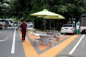 Esta estrategia de urbanismo táctico está en cercanías a la avenida González Valencia, en la calle 53 con carrera 29. - Archivo/GENTE DE CABECERA