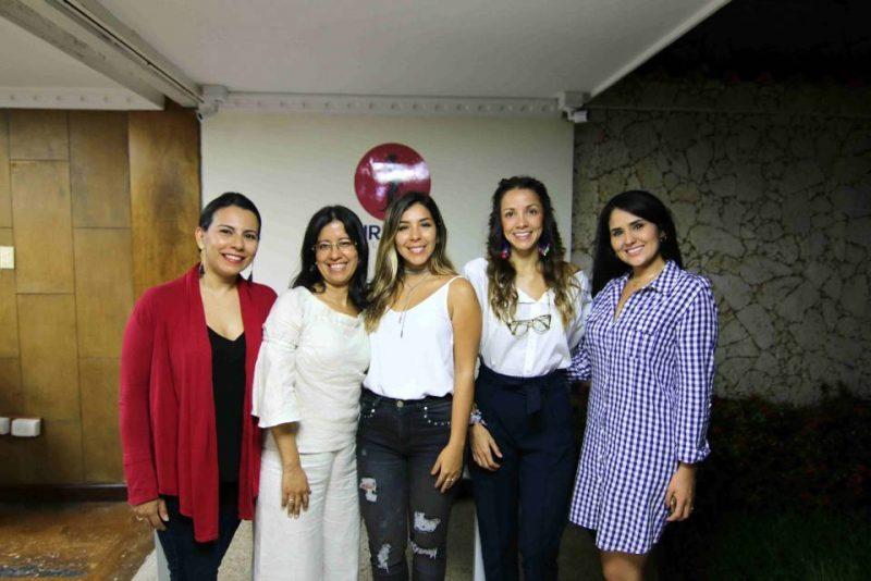 Lida Peña, Luz Villamizar, Johana Monroy, Andrea Trillos y Angie Pérez. - Élver Rodríguez/GENTE DE CABECERA