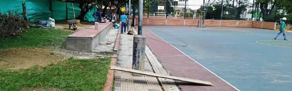 Denuncian demoras en obras de canchas del parque San Pío
