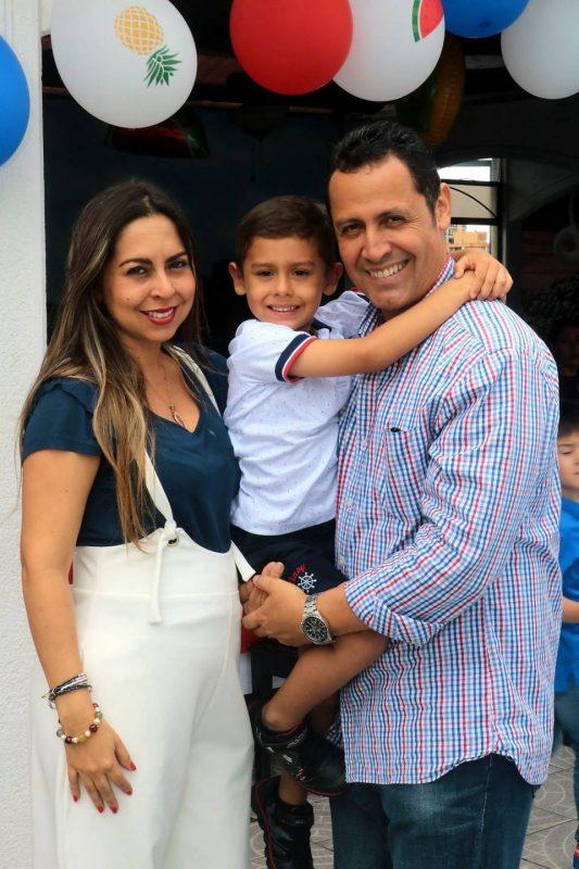 Yazmín Forero, Juan Lucas Pachón Forero y Edgar Pachón. - Fabián Hernández/GENTE DE CABECERA