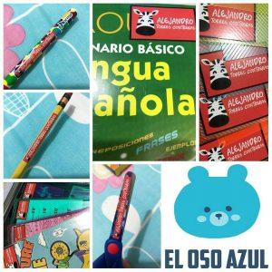 Stickers escolares, marquillas para ropa, tarjetas educativas, entre otros productos, hacen parte de la oferta de El Oso Azul. - Suministrada/GENTE DE CABECERA