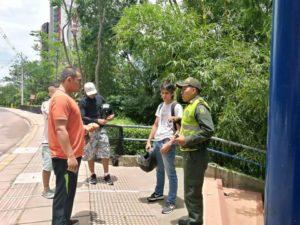 La Policía Metropolitana de Bucaramanga adelanta campañas pedagógicas con el fin de dar a conocer las normas dispuestas en el Código de Policía. - Suministrada/GENTE DE CABECERA