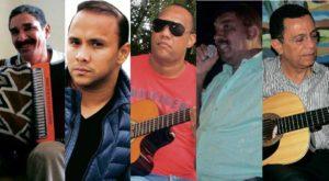 """Marciano Martínez, Wilfran Castillo, Alberto """"Tico"""" Mercado, Aureilo """"Yeyo"""" Núñez y Fernando Meneses. - Archivo/GENTE DE CABCERA"""