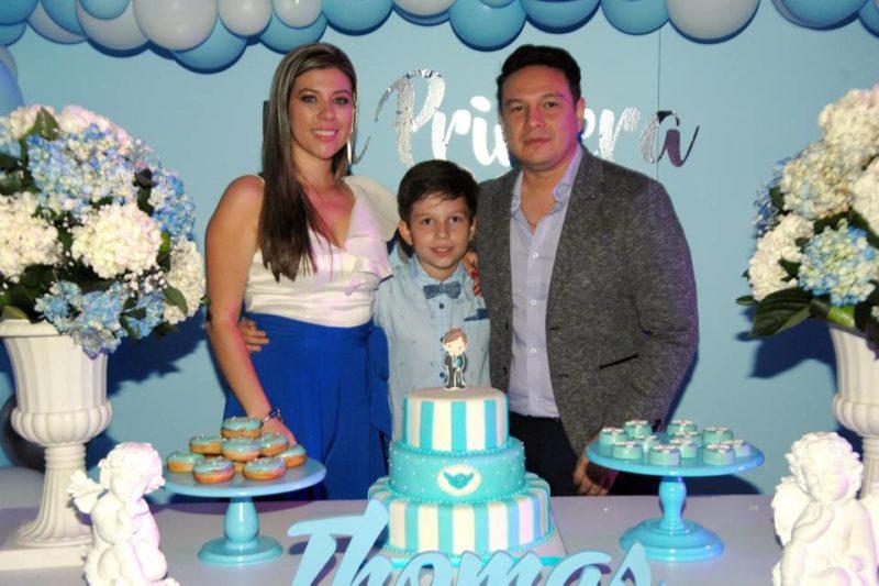 Paola Rincón, Tomás Alejandro Cruz Rincón y Carlos Cruz. - Jaime del Río/GENTE DE CABECERA