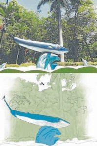 Además de las aves, la guía incluye ilustraciones de paisajes propios del parque La Flora. - Suministrada/GENTE DE CABECERA