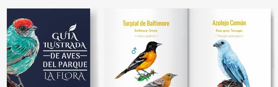 Estudiantes de diseño gráfico crean libro de aves del Parque La Flora
