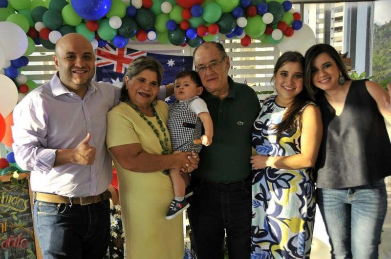Hernando Santos Niño, Mireya Niño, Esteban Martínez Santos, Alberto Santos, Laura Santos y Andrea Santos. - Suministrada / GENTE DE CABECERA