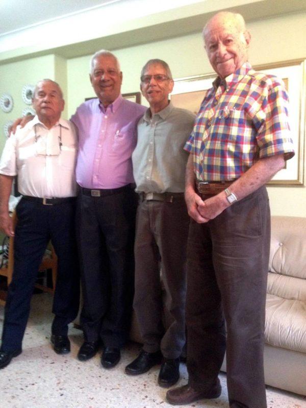 Abelardo Navarro, José Antonio Churio, Carlos Martínez y Hernando Abril Estevez. - Suministrada / GENTE DE CABECERA