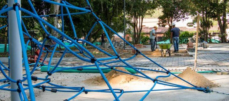 Se tiene previsto que antes de finalizar marzo se haga la entrega oficial de los trabajos que contemplan el mejoramiento de las canchas, juegos infantiles, senderos peatonales y alumbrado de última tecnología, entre otros aspectos. - Suministrada: Alcaldía de Bucaramanga / GENTE DE CABECERA