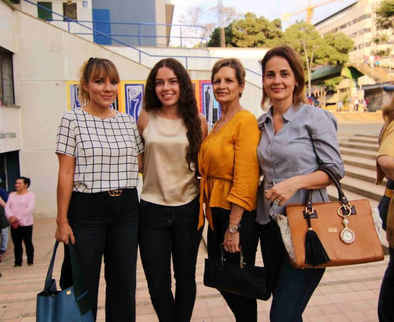 Andrea Leiva, Angie Lemus, Martha Pérez, y Érika Leiva. - Élver Rodríguez / GENTE DE CABECERA