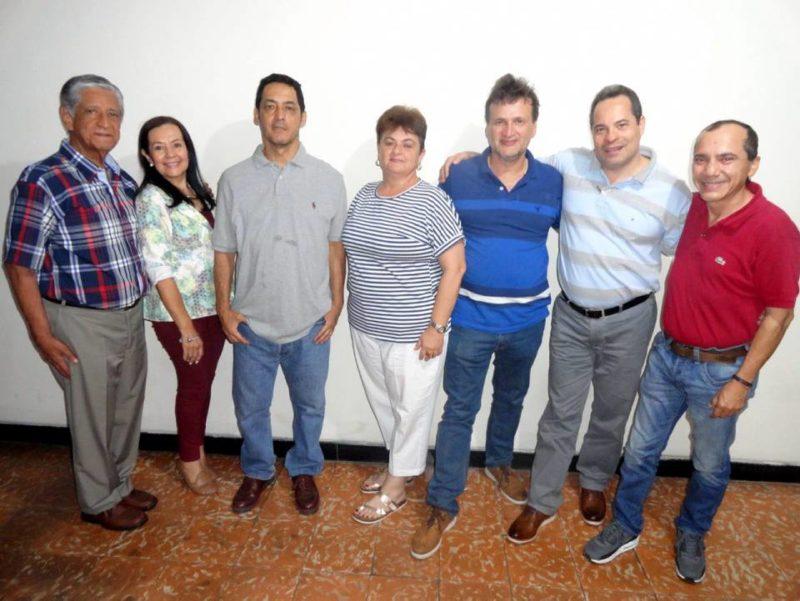 Santiago Sánchez, Amparo Cruz, Raúl Camargo, Catalina Serrano, Javier Pinzón, Hugo González y Germán Arciniegas. - Suministrada / GENTE DE CABECERA