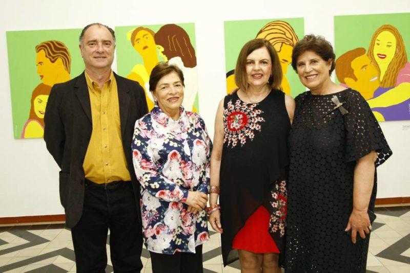 Alberto Sojo, Olga Lucía Jordán, María de la Paz Jaramillo y Patricia Tavera. - César Flórez / GENTE DE CABECERA