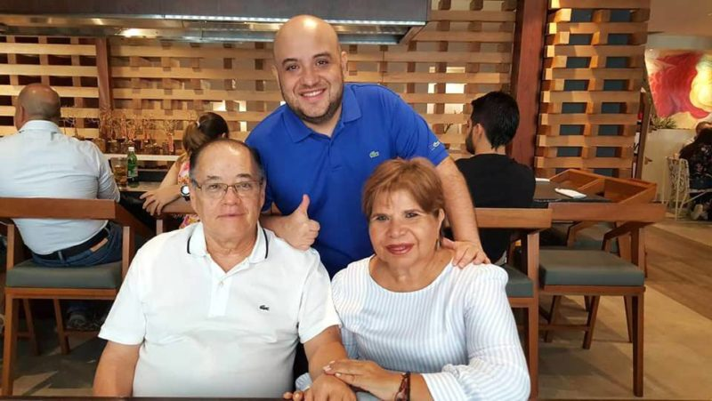 Alberto Santos, Mireya Niño y Hernando Santos Niño. - Suministrada / GENTE DE CABECERA