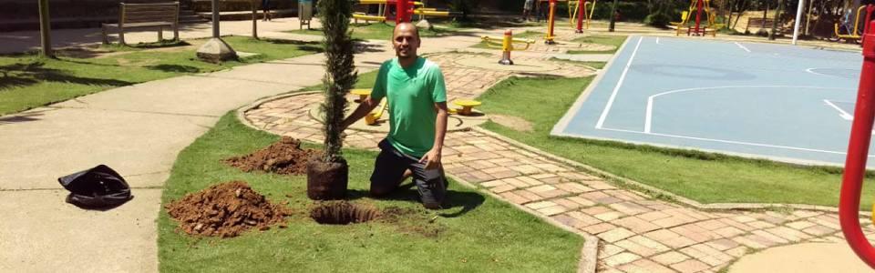 Destacan la labor  de dos ciudadanos en pro del parque Los Leones