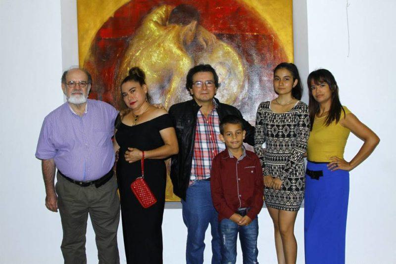 Mario Gómez Díaz, Herminda Bueno Hernández, José Ramón Tarazona Gelvez, Adrián Nicolás Tarazona Bautista, Ada Luna Tarazona Bueno e Ivonne Gómez. - César Flórez / GENTE DE CABECERA