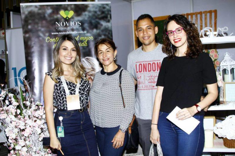 Laura Pitta, Luz Amparo Pardo, Albeiro Anaya y Silvia Juliana Rueda. - César Flórez / GENTE DE CABECERA