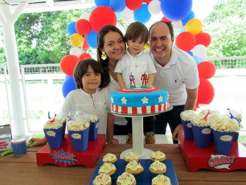 Juan Andrés Anaya Camacho, Adriana Rocío Camacho, Alejandro Anaya Camacho y Julián Andrés Anaya. - Suministrada / GENTE DE CABECERA