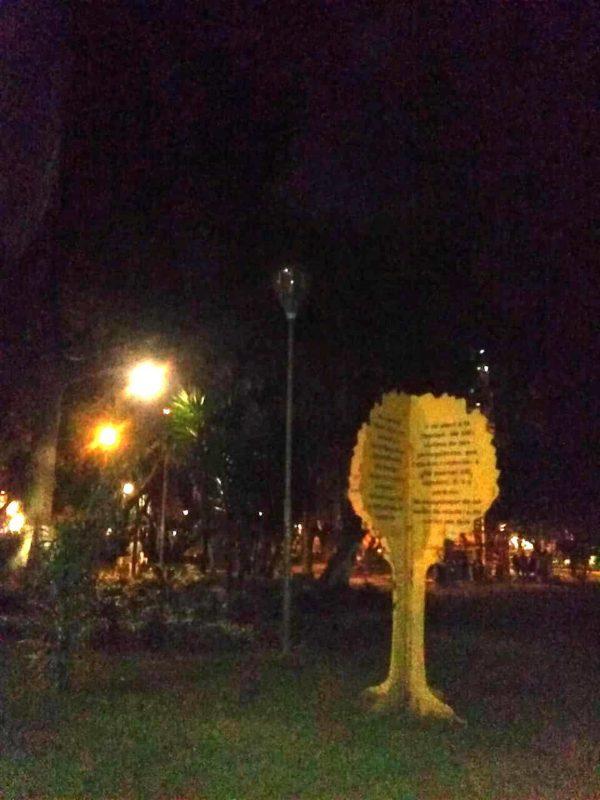 A raíz de la falta de luminarias, la percepción se seguridad en el parque ha disminuido. La oscuridad se presta para cometer hurtos a cualquier hora de la noche. - Edward Grimaldos / GENTE DE CABECERA