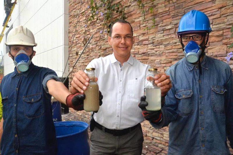 Las 'trampas de grasa' recolectan el agua contaminada, especialmente de los restaurantes, que posteriormente es filtrada a través de procesos naturales. - Fabián Hernández / GENTE DE CABECERA