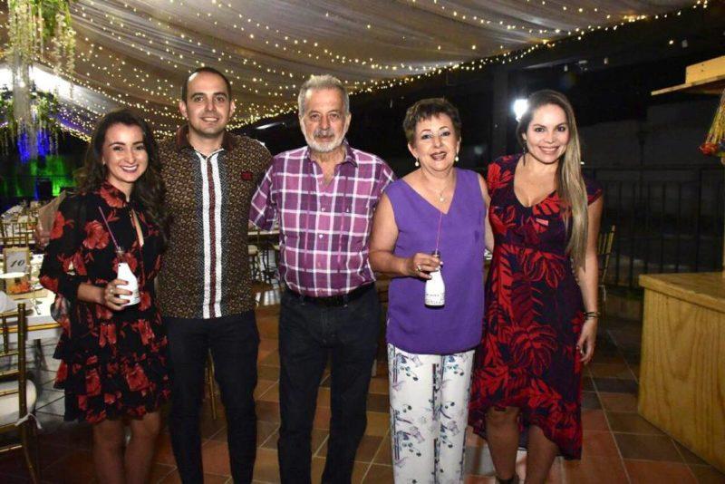 Liliana Cote, Juan José Baez Cote, Antonio Baez, Nelly Cote y Laura Blanco. - Suministrada / GENTE DE CABECERA