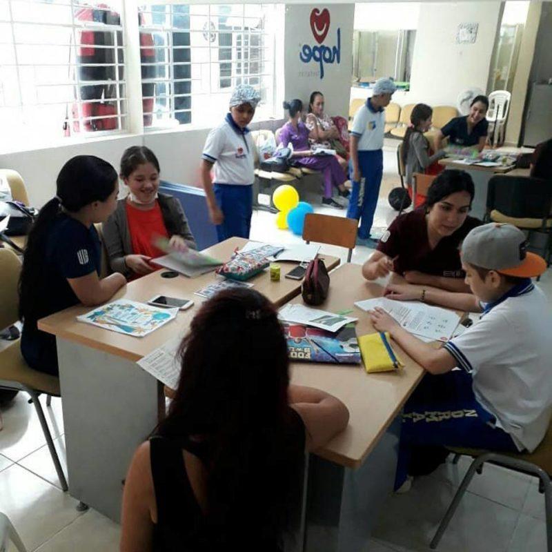 Además de continuar con sus estudios, en las Aulas Hospitalarias, los niños recibían apoyo psicosocial y realizaban actividades lúdicas. - Suministrada / GENTE DE CABECERA