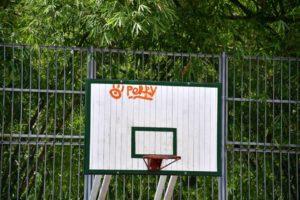 Las recientemente remodeladas canchas del parque Los Leones fueron rayadas con grafitis, que según la comunidad atribuyen a algunos cosumidores de estupefacientes. - Miguel Vergel / GENTE DE CABECERA
