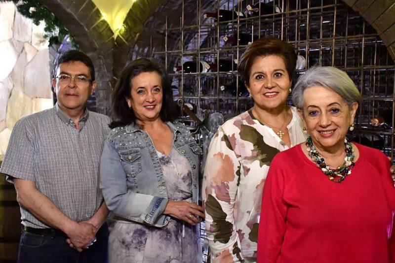 Álvaro Castilla, Luz Prada, María Clemencia Villamizar y Yolanda Prada. - Miguel Vergel / GENTE DE CABECERA
