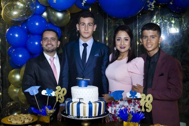 Carlos Lesmes Franco, Carlos Santiago Lesmes Bonilla, Laura Catalina Bonilla Rodríguez y Luis Felipe Lesmes Bonilla. - Suministrada / GENTE DE CABECERA