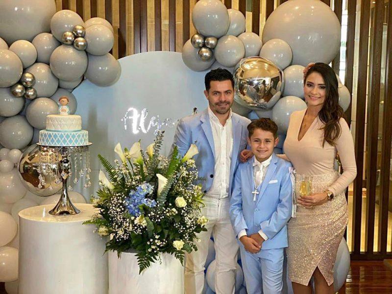 Alejandro Leiva, Carolina Rojas Ruiz y Alejandro Leiva Rojas. - Suministrada / GENTE DE CABECERA