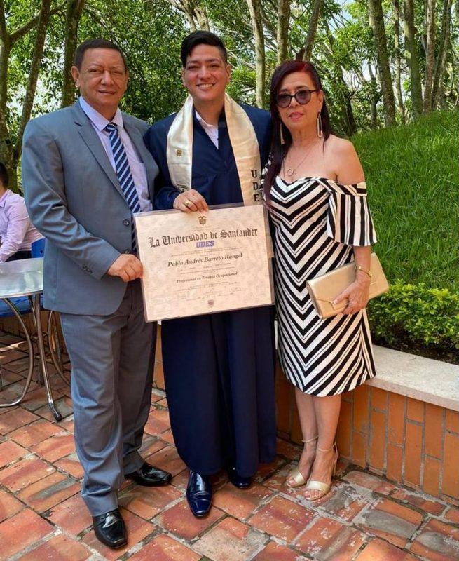 Luis Felipe Barreto Moreno, Pablo Andrés Barreto Rangel y Lidia Edith Rangel Rodríguez. - Suministrada / GENTE DE CABECERA