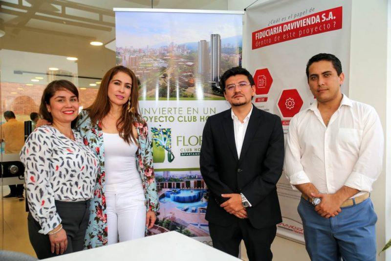 Isailia Barrera, María Oliva Flórez Rodríguez, Andrés Felipe Martínez Esparza y Hernán Clavijo Granados. - Fabián Hernández / GENTE DE CABECERA