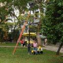 Vuelve a iluminarse el parque San Pío