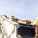 El recolector de basuras se demora en pasar
