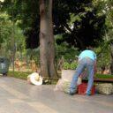 Ventas ambulantes invaden el parque San Pío