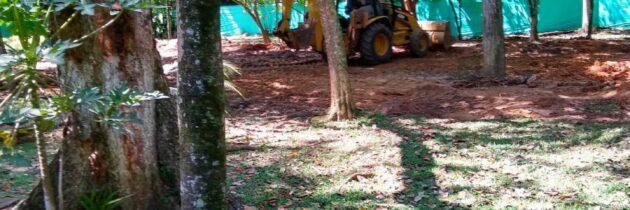Iniciaron las  obras en el  parque La Flora