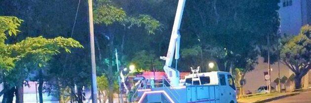 Agradecen mejoramiento de alumbrado público en Conucos