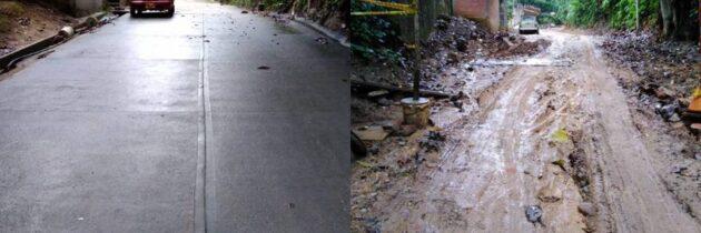 Denuncian daño en vía  por obras del 'Bosque de los Caminantes'