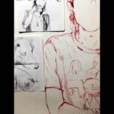 Exposición de dibujos sobre papel