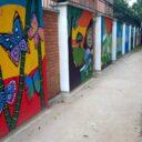 Con arte y civismo embellecieron el parque de Conucos