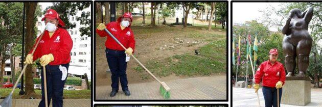 Parques limpios gracias a ellas